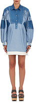 Sacai Women's Patchwork Denim Shirtdress