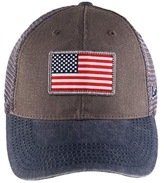Black Clover USA Flag Patch Adjustable Hat (USA Flag Clover/Grey/Navy) Baseball Caps