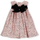 Helena Sleeveless Polka-Dot Shift Dress, Pink/Black, Size 2-6