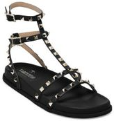 Valentino Garavani Rockstud Leather T-Strap Sandals