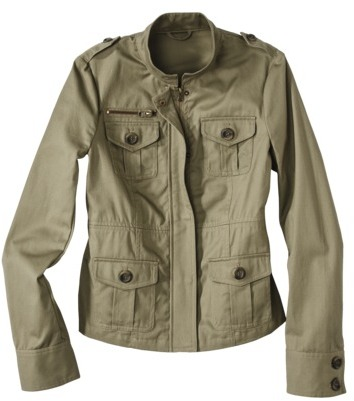 Coffee Shop Junior's Military Jacket -Olive