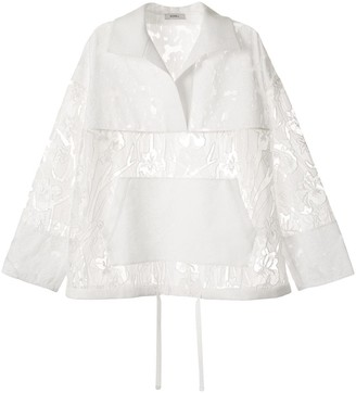 GOEN.J Lace Embroidered Mesh Anorak