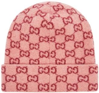 Gucci GG logo-intarsia wool beanie
