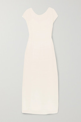 The Row Prado Plisse-georgette Maxi Dress - Ivory