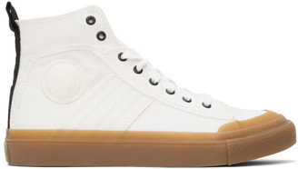 Diesel White S-Astico Sneakers