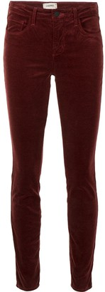 L'Agence Skinny Fit Velvet Trousers