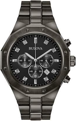 Bulova Chronograph Diamond 0.04 CT. T.W. Black IP Bracelet Watch