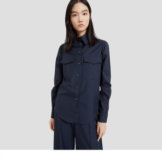 Mulberry Poppie Shirt Dark Navy Winter Canvas
