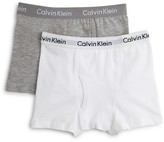 Calvin Klein Boys' Boxer Briefs, 2 Pack - Little Kid, Big Kid