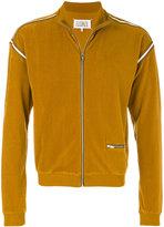 Maison Margiela ribbed zip up jacket