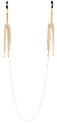 Frame Chain - Diamante Fringed Glasses Chain - Womens - White