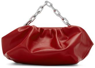 Marques Almeida Red Pleated Clutch Bag