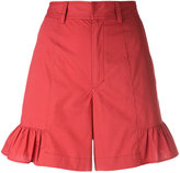 Muveil flared hem shorts
