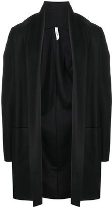 Attachment Shawl Lapel Open-Front Cardigan