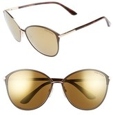 Tom Ford Women's 'Penelope' 59Mm Sunglasses - Brown/ Super Bronze
