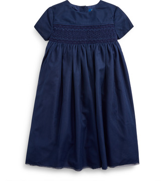 Ralph Lauren Embroidered Tulle A-Line Dress