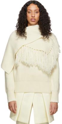 Sacai Off-White Scarf Sweater