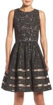 Eliza J Cotton Blend Fit & Flare Dress (Regular & Petite)