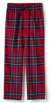 Lands' End Men's Tall Classic Fit Flannel Pajama Pants-Regiment Navy Plaid
