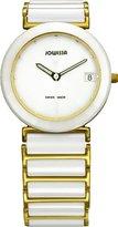 Jowissa Women's J9.010.L Venus White Ceramic Bracelet Mother-Of-Pearl Dial Date Watch