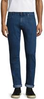 Z Zegna Cotton Fading Straight Leg Jeans