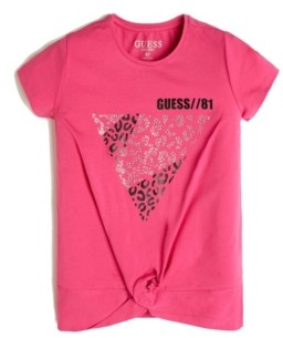 GUESS Big Girls Foil and Crystal Logo Jersey T-Shirt