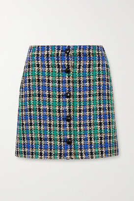 McQ Checked Cotton-blend Tweed Mini Skirt