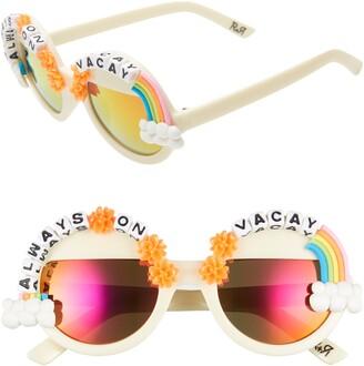 Rad + Refined Always on Vacay Rainbow Round Sunglasses