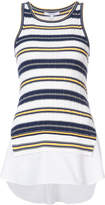 Derek Lam 10 Crosby Sheer Striped Tank