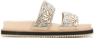 Twin-Set Beaded Straps Sandals