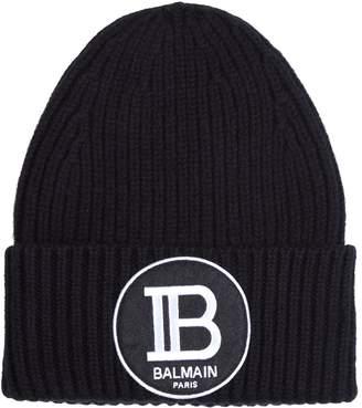 Balmain Knitted Logo Beanie