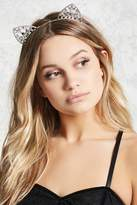 Forever 21 Diamante Cat Ear Headband