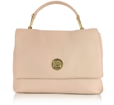Coccinelle Liya Degas Pink Grainy Leather Satchel Bag