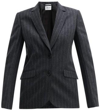 Pallas X Claire Thomson-jonville - Fidji Single-breasted Chalk-striped Wool Jacket - Womens - Grey Multi