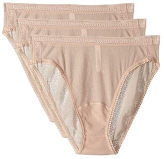 OnGossamer Gossamer Mesh Hi-Cut Brief 3-Pack 3012P3 (Black) Women's Underwear