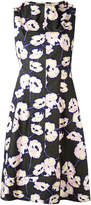 Marni floral toggle neck dress