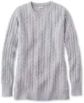 L.L. Bean Women's Classic Cashmere Sweater, Cable Crewneck