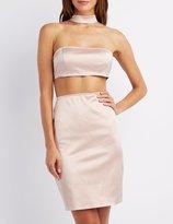 Charlotte Russe Choker Neck Cut-Out Dress