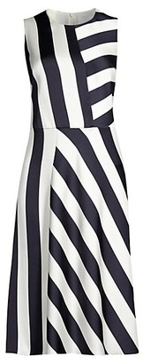 HUGO BOSS Dalta Striped Dress