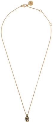 Alexander McQueen Gold Skull Necklace