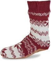 DKNY Fair Isle Slipper Socks