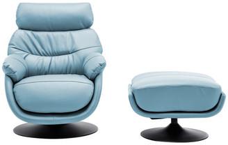 World Source Design Calcutta Contemporary Rocker Chair With Ottoman, Baby Blue