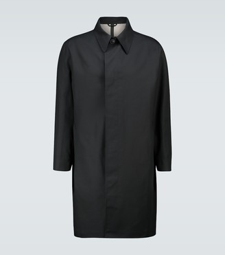 Ami Bonded mac coat