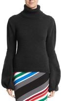 Oscar de la Renta Women's Wool Bell Sleeve Turtleneck Sweater