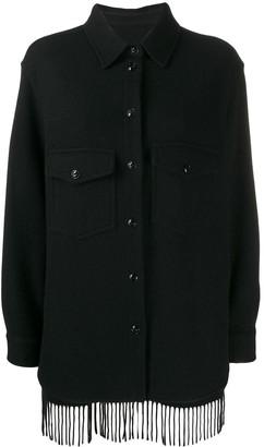Woolrich Stripe Panel Buttoned Jacket