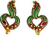 Judith Leiber 18K Enamel Heart Earrings