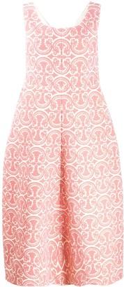 Jil Sander Vintage Vector pattern midi dress