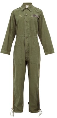 Myar - Usp7a American Army Cotton Jumpsuit - Womens - Green