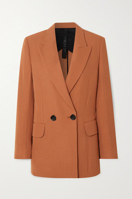 Petar Petrov Jazz Double-breasted Wool-blend Blazer - Orange