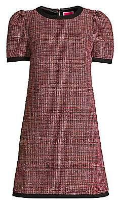 Kate Spade Women's Tweed Puff-Sleeve Shift Dress - Size 0